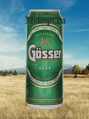 """Пиво """"Гёссер"""" (24 шт.) ж/б 0,45 л., шт"""