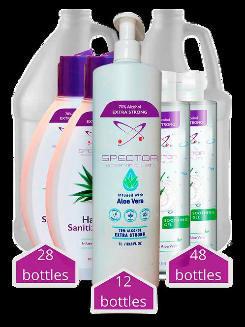 Sanitizers Kit - 92 bottles