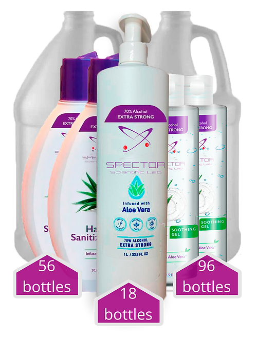 Sanitizers Kit - 178 bottles