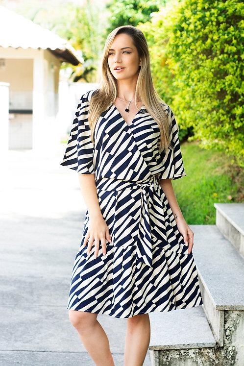 Vestido Estampa Transpassado