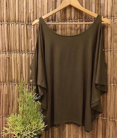 Blusa Vazada Verde