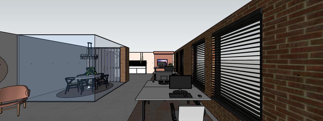 schets kantoor ontwerp