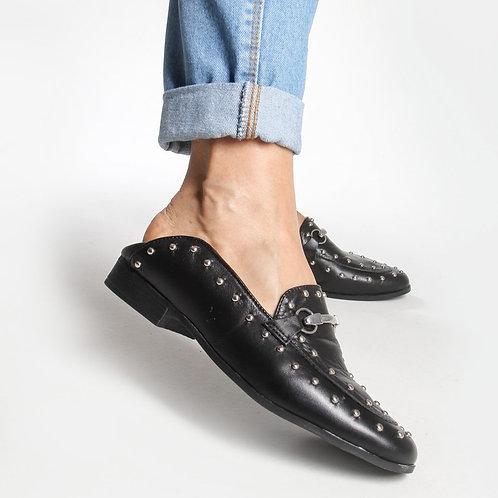 Loafer Couro Preto