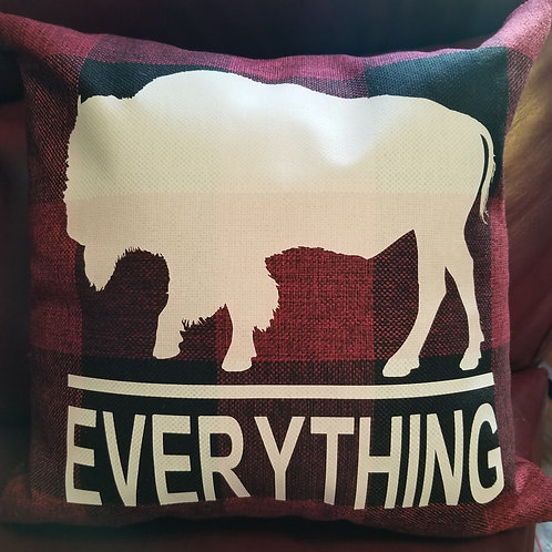 Buffalo Over Everything Pillow