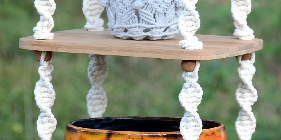 Macrame Hanging Shelf  01/23 @ 2pm