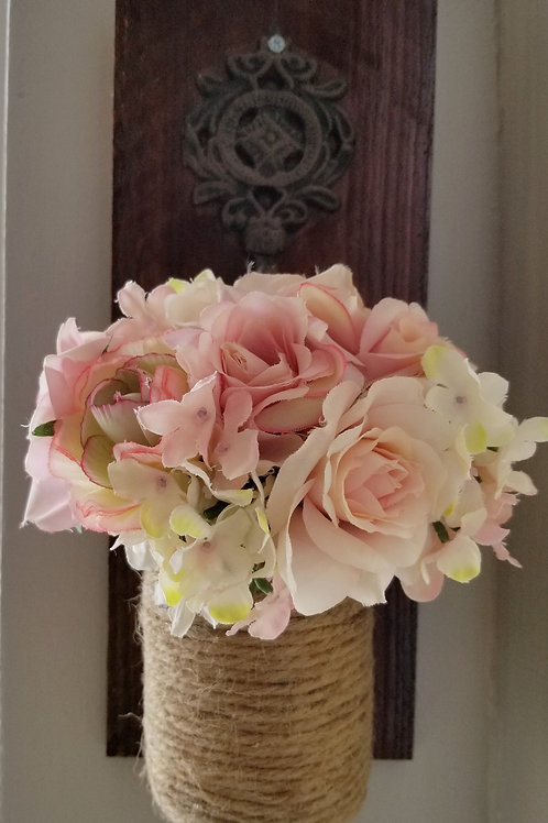 Mason Jar Flower Sconce (Set of 2)