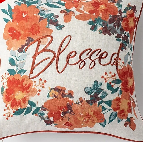 'Blessed' Fall Pillow