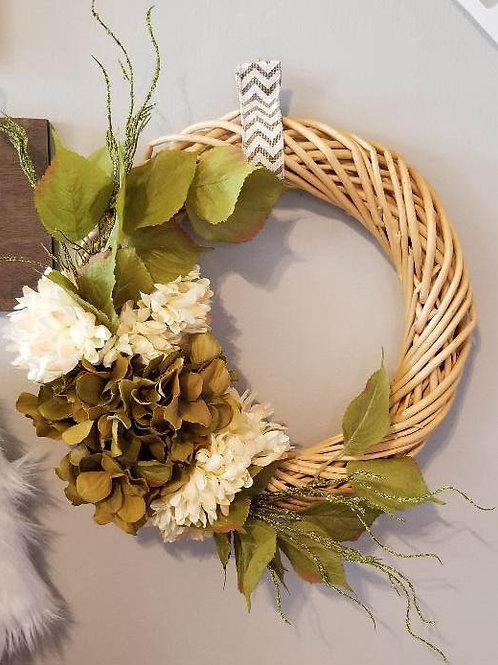Spring Wicker Wreath