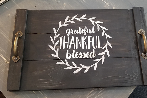 'Grateful, Thankful, Blessed' Fall Tray