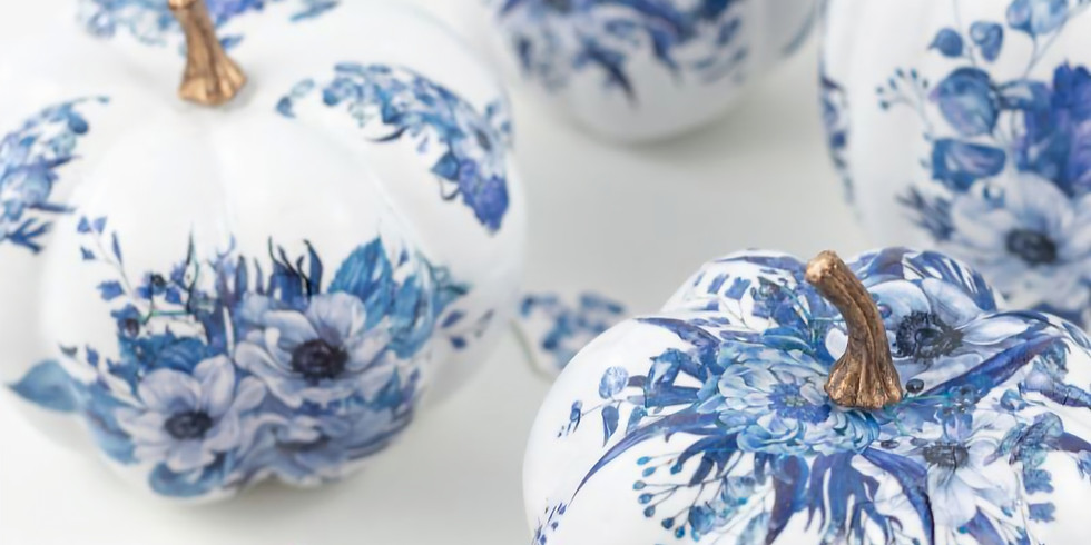 Blue/White Decor Pumpkins- 10/17 @ 2pm