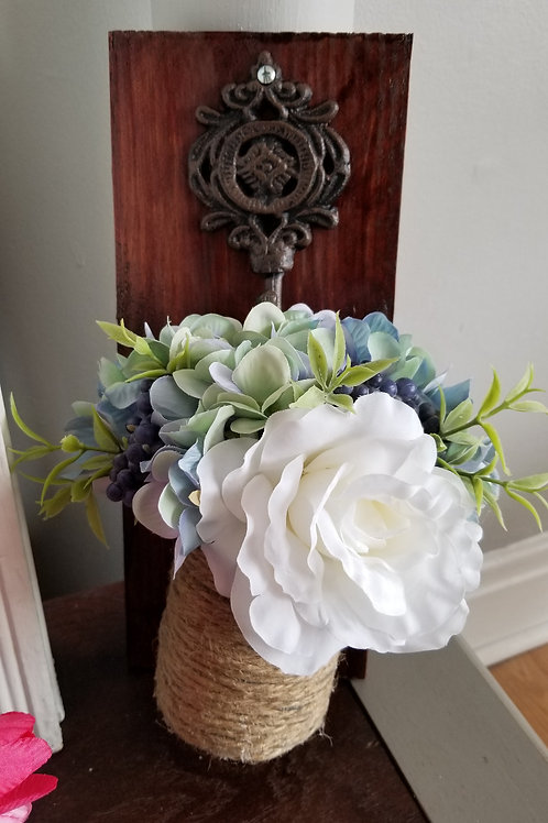 Mason Jar Flower Sconce