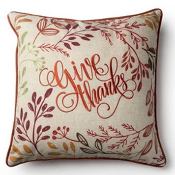'Give Thanks' Fall Pillow