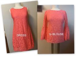 Make a short dress into a blouse