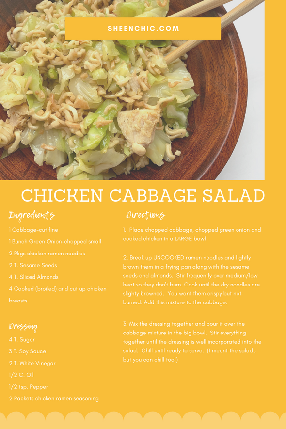 Chicken Cabbage Salad-the Perfect Potluck Dish