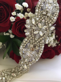 Wedding Dress Sash DIY for less