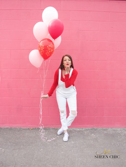 White overalls, Valentine Outfit