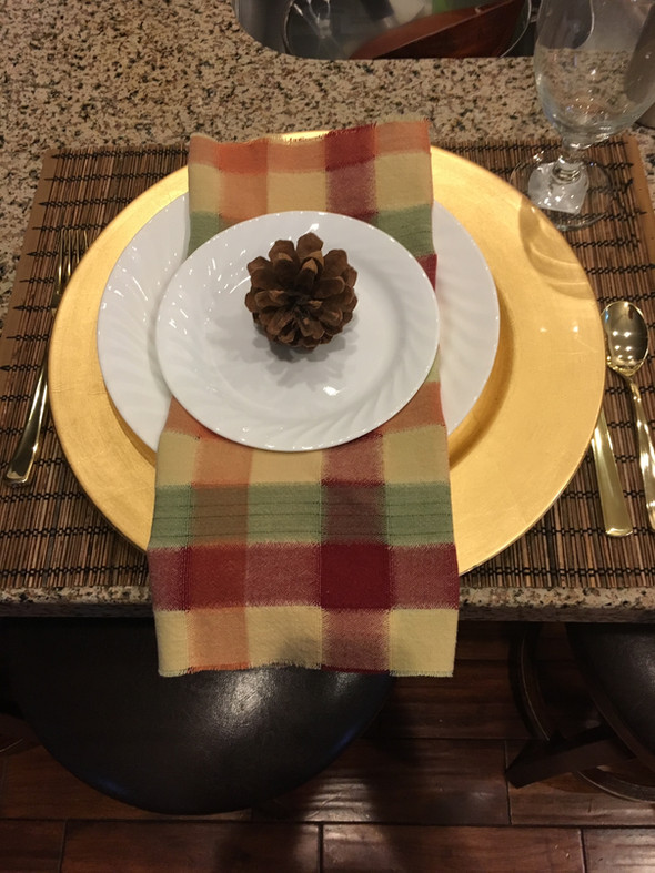 Handmade Napkins from a Tablecloth