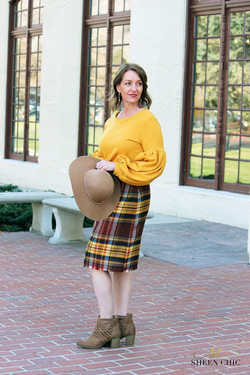 Flannel Plaid Pencil Skirt DIY