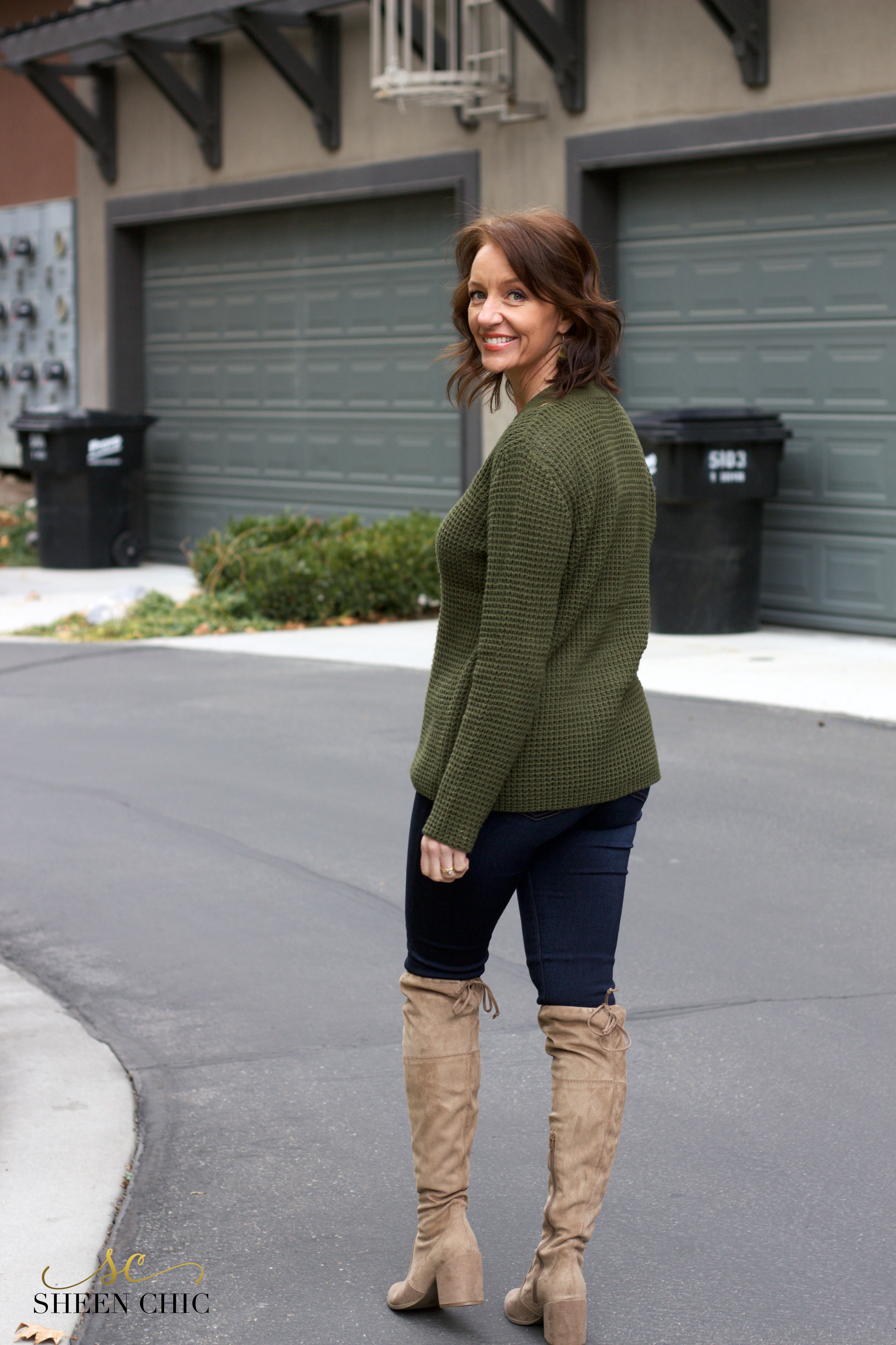 Olive Sweater outfit