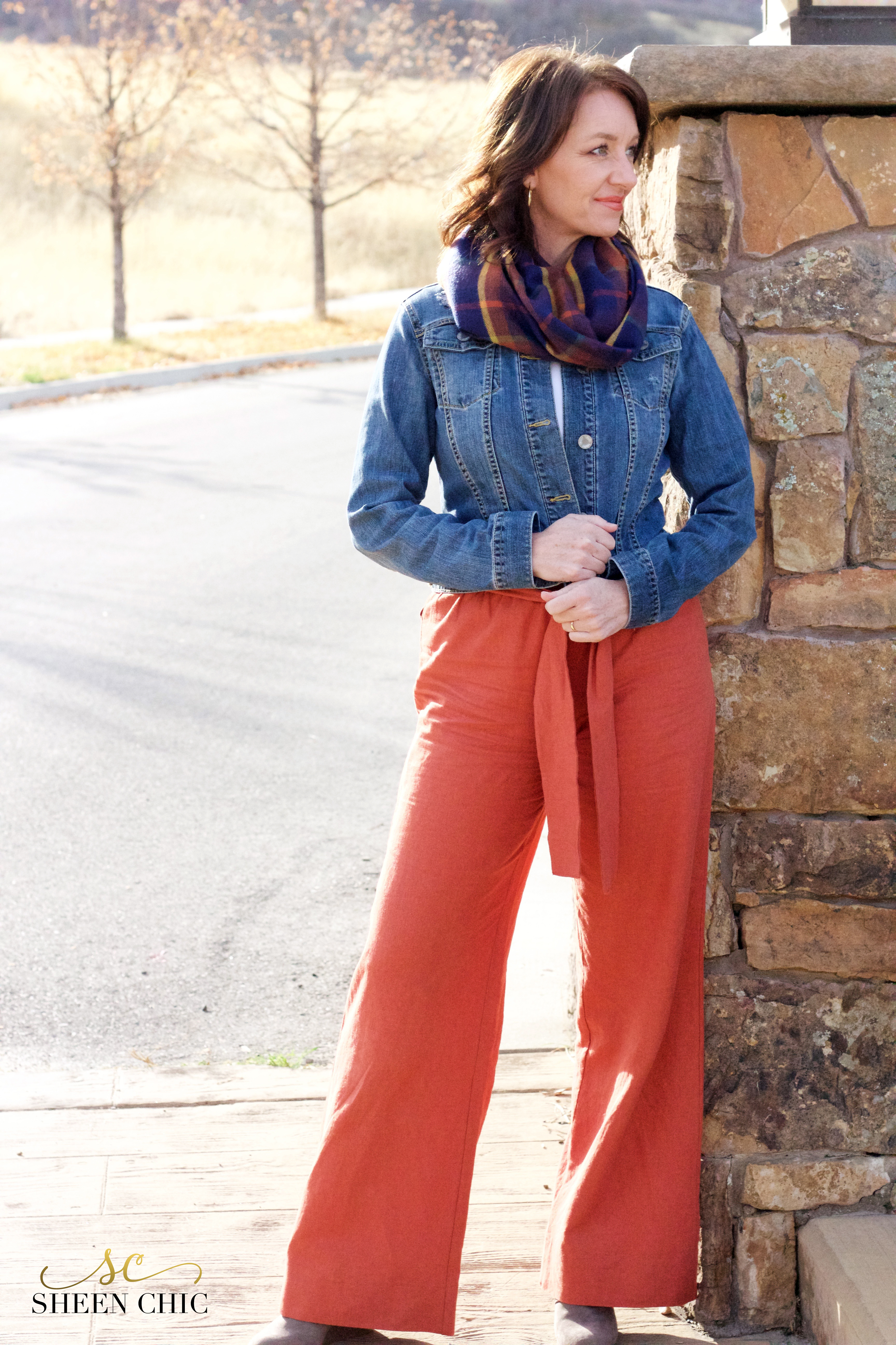 Copper color Palazzo pants DIY