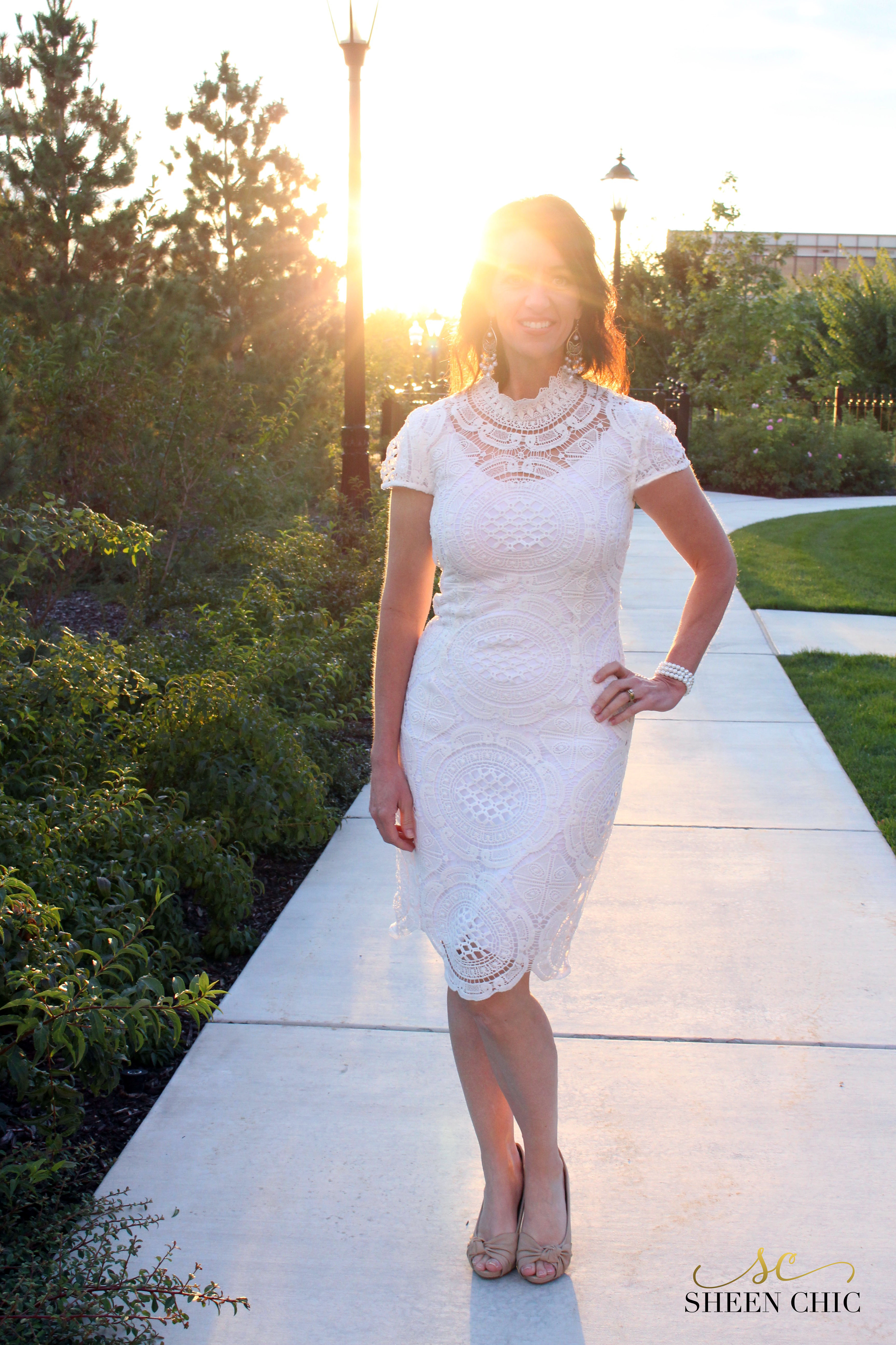 How to line a lace dress