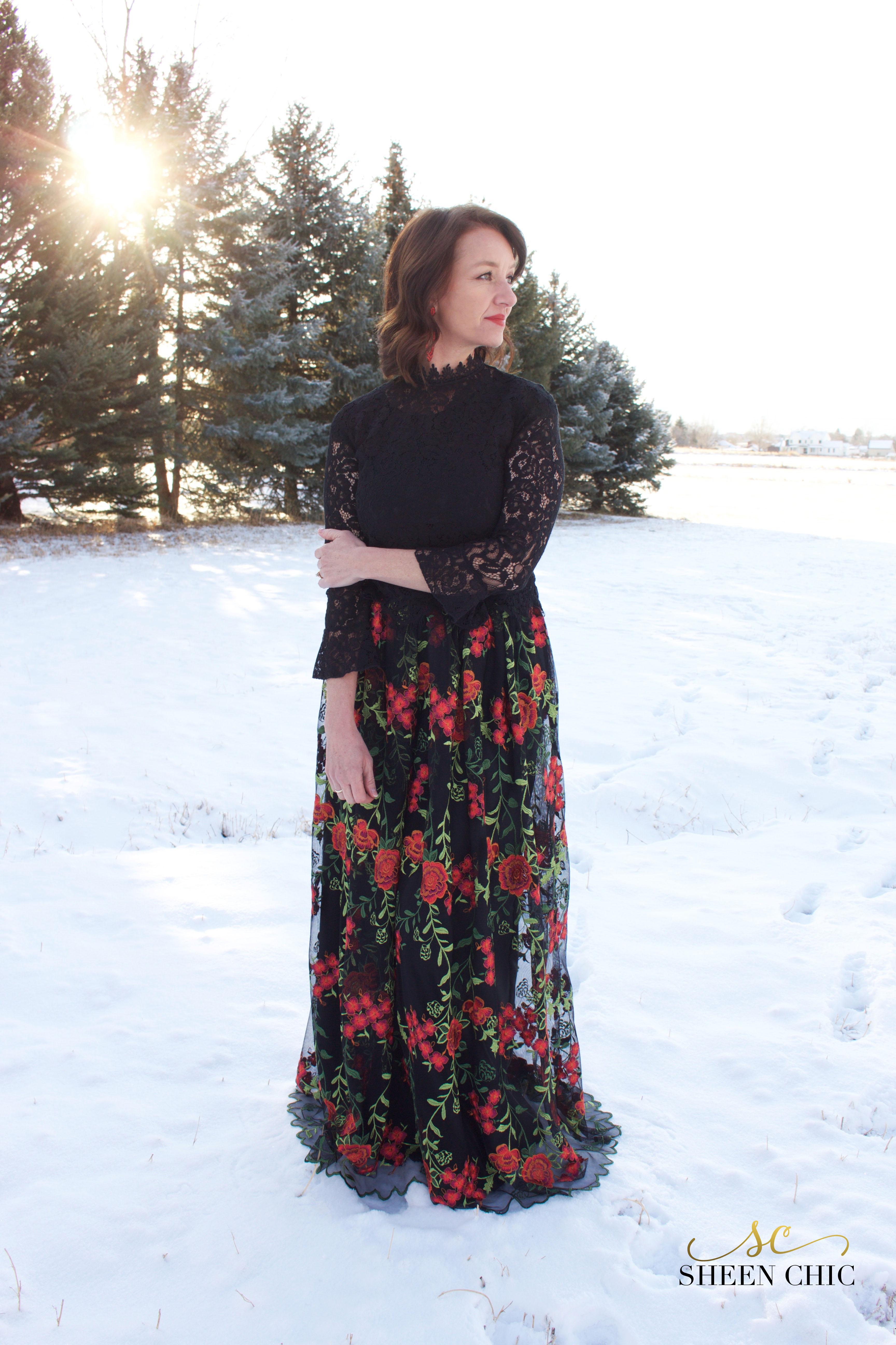 Perfect Christmas ballgown skirt