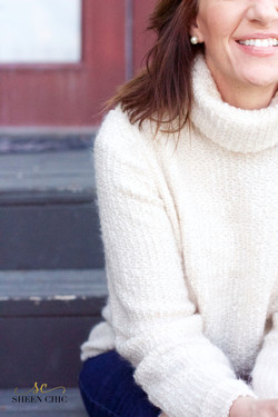 Cozy cream sweater you can sew