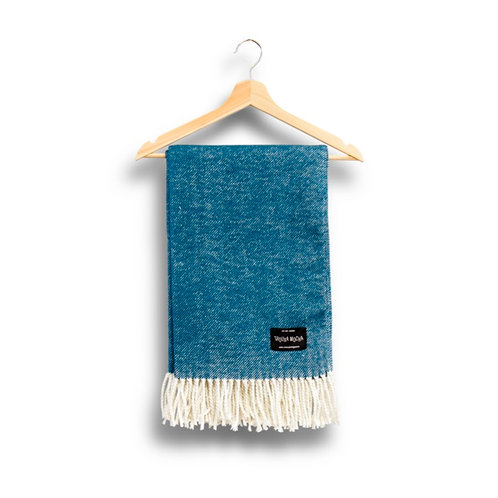 cotton blanket - blue
