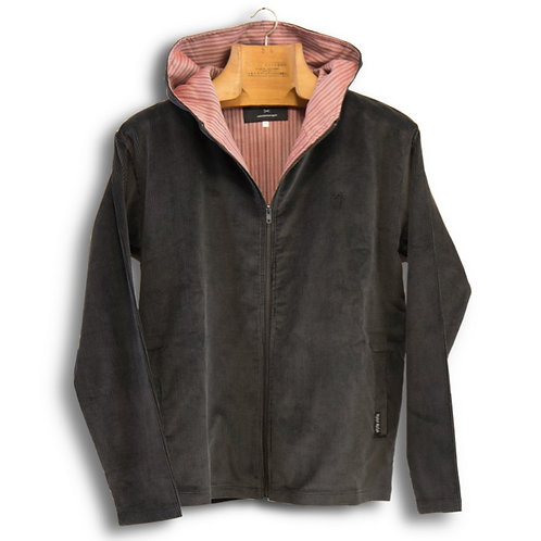 hooded jacket - corduroy