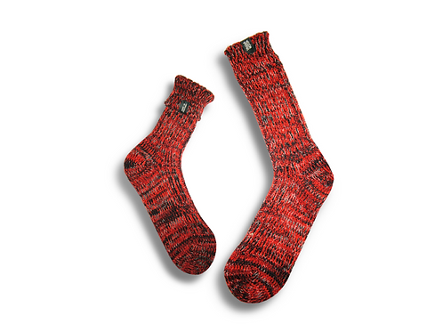 Fisherman Socks  by Trouxa Mocha [red]
