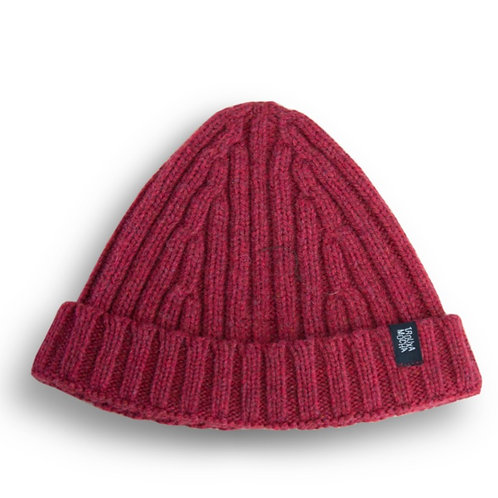 Knitted cap by Trouxa Mocha [red]