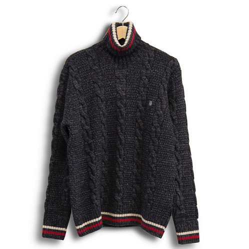 Roll neck lambswool sweater