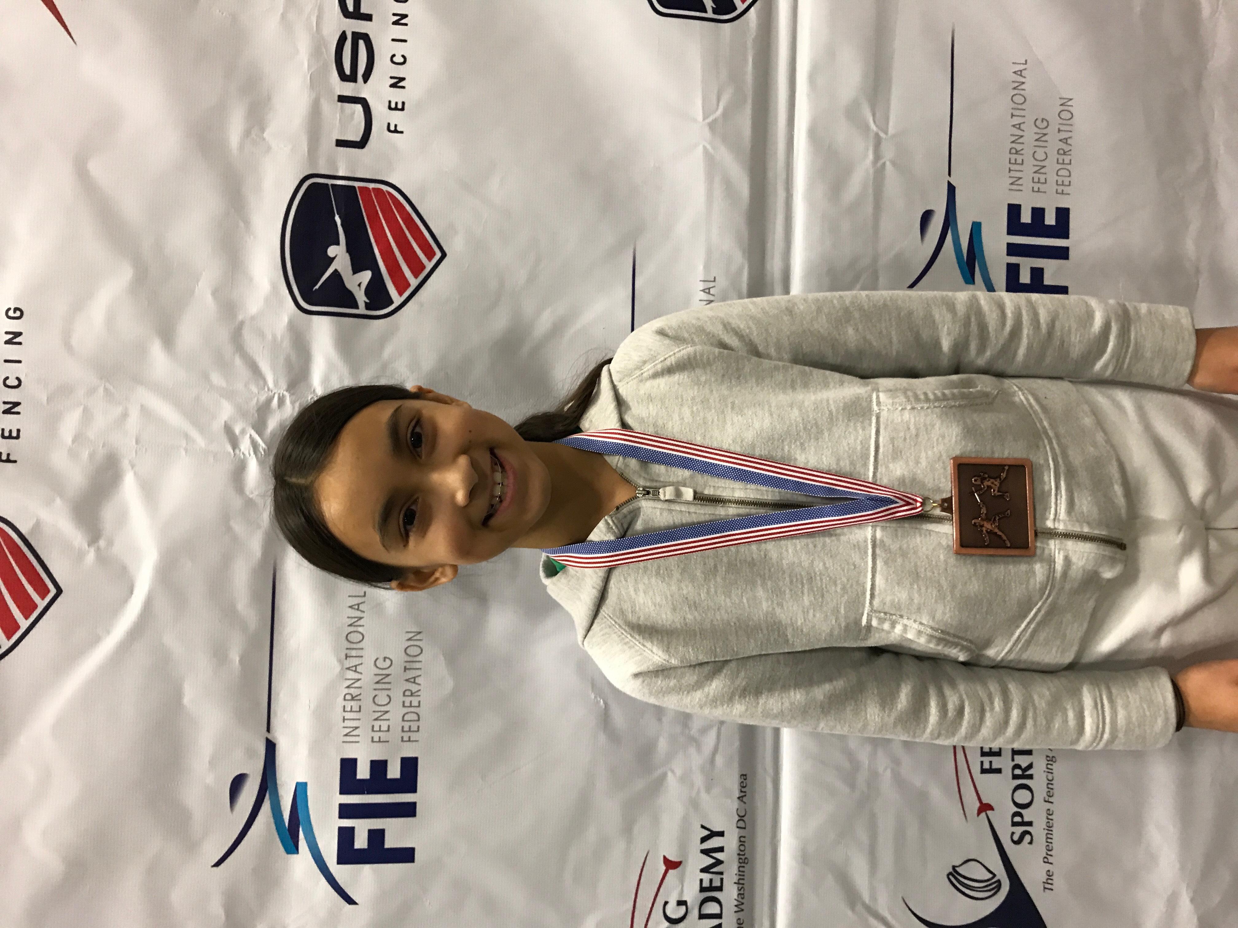 Lalya Roy Rockland Fencer