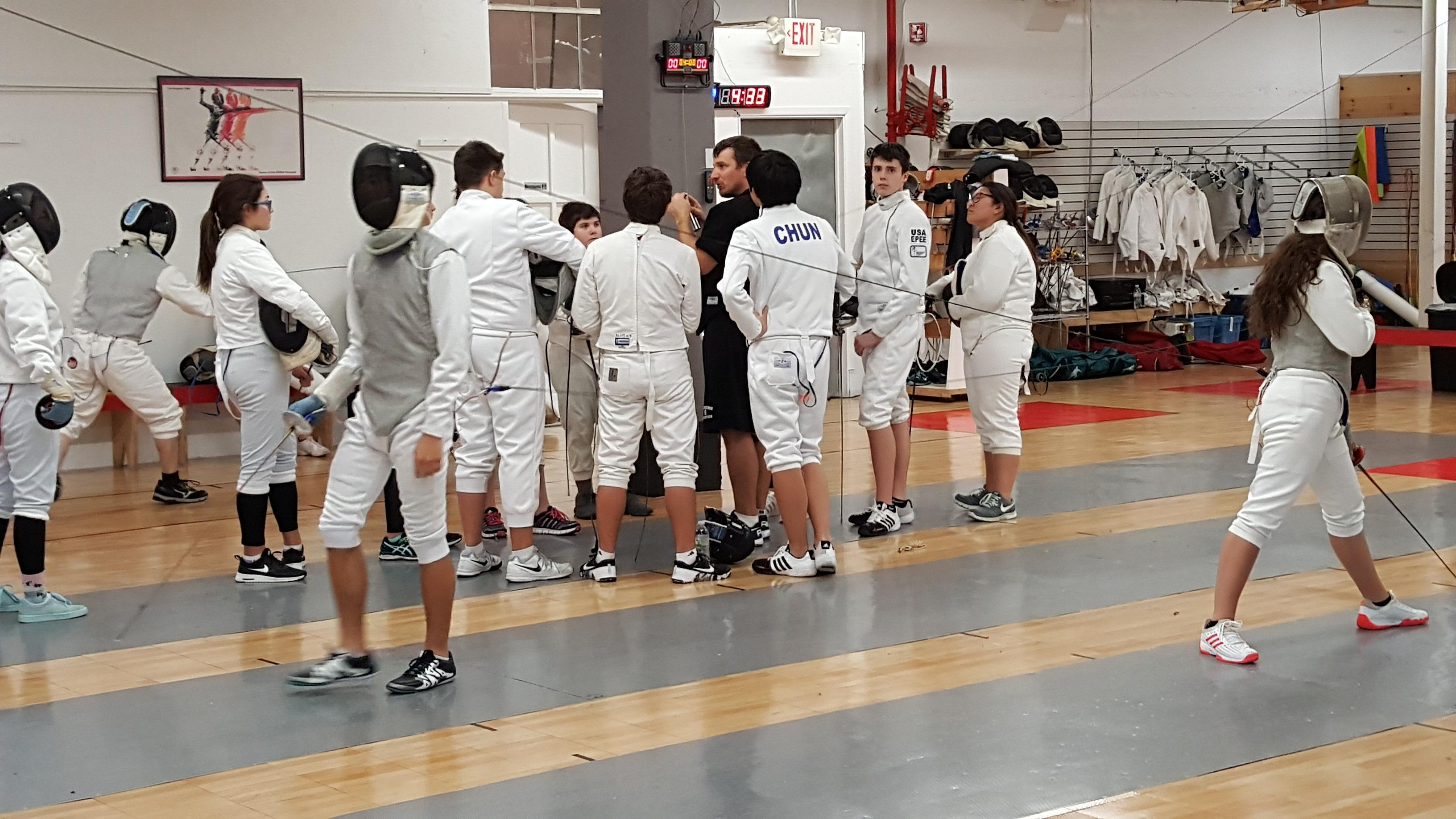 TZ Fencing Team Practice