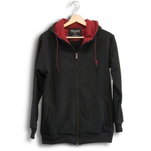 Classic Zip Hood Black&Red