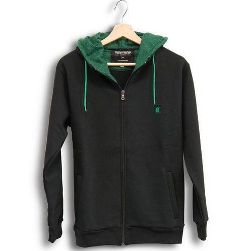 Classic Zip Hood Black&Green