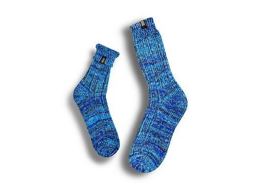 Fisherman Socks  by Trouxa Mocha [blue]
