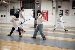 Two young RFC fencers