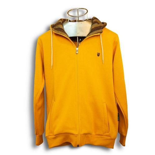 Classic Zip Hood Mustard Yellow