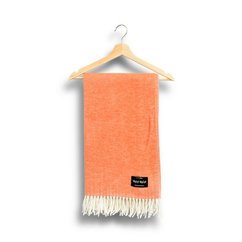 cotton blanket - terracotta