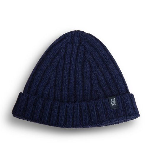 Knitted cap by Trouxa Mocha [blue]