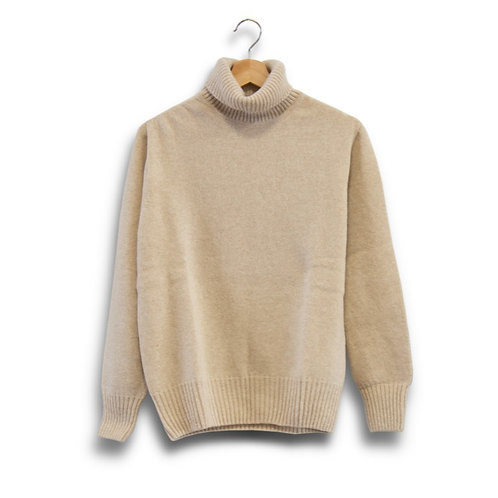Roll neck lambswool