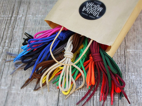 Solid Colored Shoelaces by Trouxa Mocha