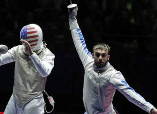Day 2: American Alexander Massialas Wins Silver in Foil