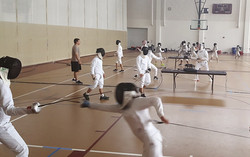 Fencing Practice 2x Per Day