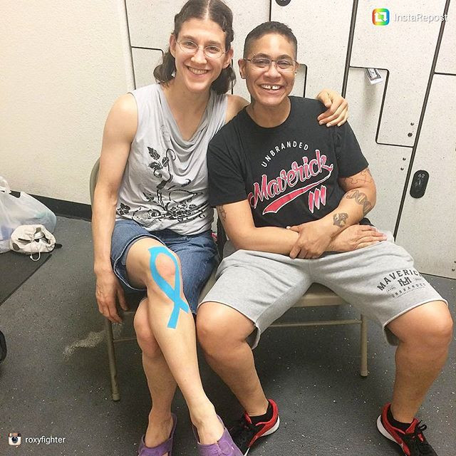 MMA FIghter Roxanne Modafferi trains with AI Tape: Repair & Recovery