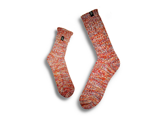 Fisherman Socks  by Trouxa Mocha [pink]