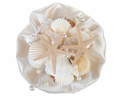 Coastal Seashell Wedding Bouquet