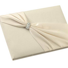 Ivory Satin Guest Book