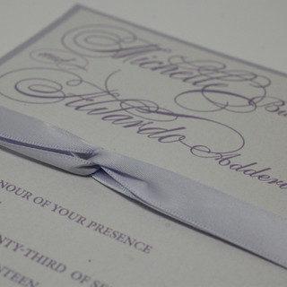Ribbons make Invitations more lovely